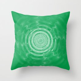Ripples_Green Throw Pillow