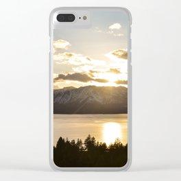 Top Floor Lake Tahoe Clear iPhone Case