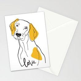 Dog Modern Line Art Stationery Cards