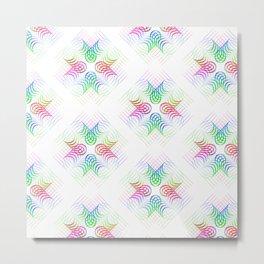 Colorful Rainbow Pattern Metal Print