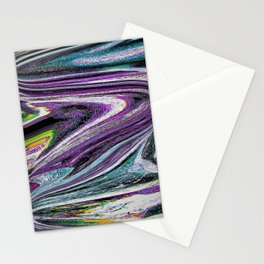 color and light waves abstract digital art Stationery Cards