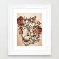 anchor Framed Art Prints featuring Anchor by Chase Kunz