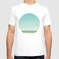 Be Free Mens Fitted Tee White MEDIUM