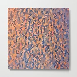 Abstract Seamless Shagpile Pale Blue and Peach Metal Print
