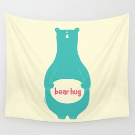 Bear Hug by zoolue Wall Tapestry
