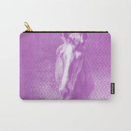 Horse emerging from the purple mist Carry-All Pouch