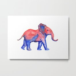 Les Animaux: Baby African Elephant Metal Print