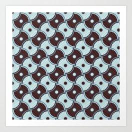 Brawn blue pattern 5 Art Print