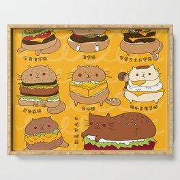 Cat burgers Serving Tray