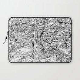 Prague White Map Laptop Sleeve