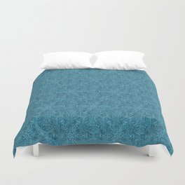Moroccan Teal Arabesque Duvet Cover