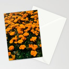 Wild Flower Poppies In A Grassy Meadow Stationery Cards