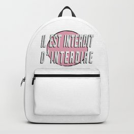 Forbidden to Forbid LOGO Backpack