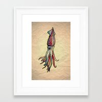squid Framed Art Prints featuring Squid by Irene Fratto Due