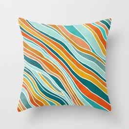 Tulum Summer Abstract Throw Pillow