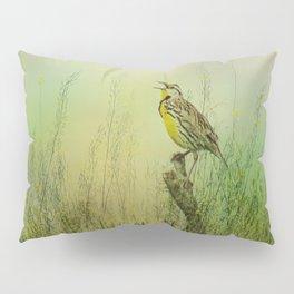The Meadow Lark Sings Pillow Sham