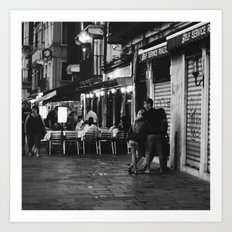 A night out in Venice Art Print