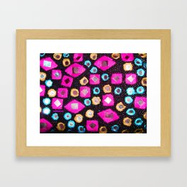 Pink beaded jewels for the fashionista's! Framed Art Print