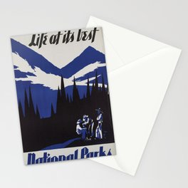 Vintage poster - National parks Stationery Cards