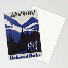 Vintage poster - National parks Stationery Cards