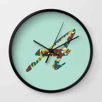 font Wall Clocks featuring A font by RLRL