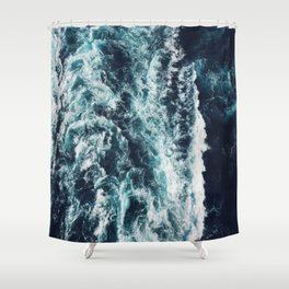 DARK BLUE OCEAN Shower Curtain