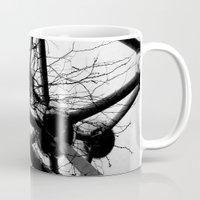 tesla Mugs featuring Tesla by sustici
