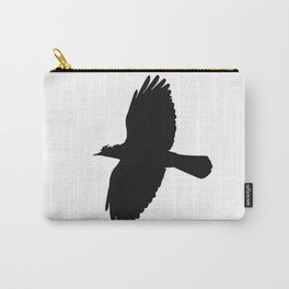 Jackdaw In Flight Silhouette Carry-All Pouch