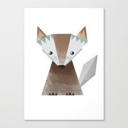 Little brown fox Canvas Print