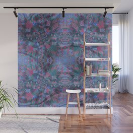 Silk Brocade Texture in Deep Lavender Wall Mural
