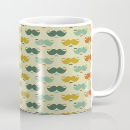 Vintage moustaches in different colors Vector Coffee Mug