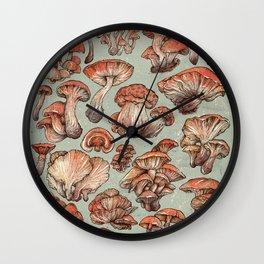 A Series of Mushrooms Wall Clock