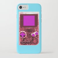gameboy iPhone & iPod Cases featuring The Gameboy by Karachameleon