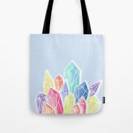 Crystals Blue Tote Bag