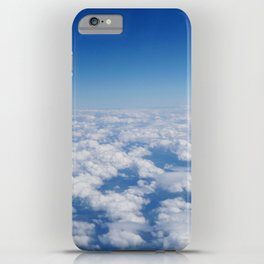 Blue Sky White Clouds Color Photography iPhone Case