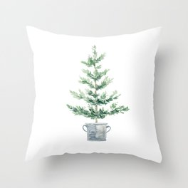 Christmas fir tree Throw Pillow