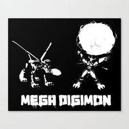 mega digimon Canvas Print