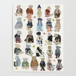 teddy bear alphabet Poster