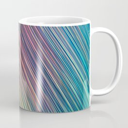 peacock green of rays light aesthetic lines abstract textile print Coffee Mug