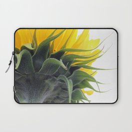 Backside of a Blooming Sunflower Laptop Sleeve
