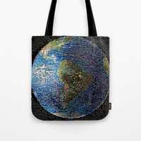earth Tote Bags featuring Earth  by 2sweet4words Designs