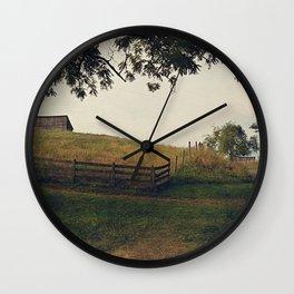 Country Roads II Wall Clock
