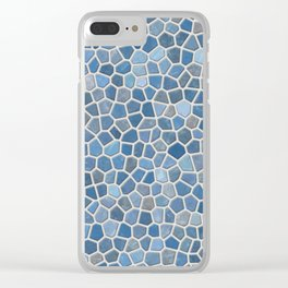Blue Mosaic Pattern - Light Clear iPhone Case