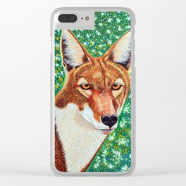 Ethiopian Wolf Clear iPhone Case