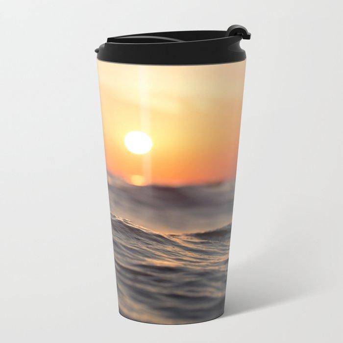 Sunset Wave Metal Travel Mug