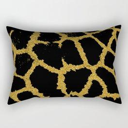 Giraffe design black and gold glitter Rectangular Pillow
