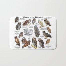 Owls of the World Bath Mat