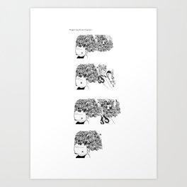 Big Hair Sequence Art Print