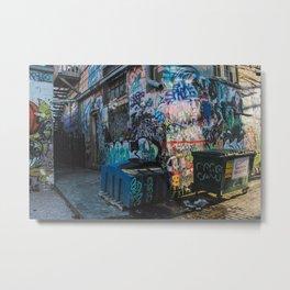Graffiti Alley 3 Metal Print