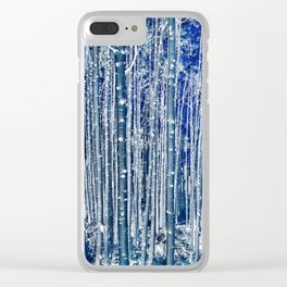 Aspen Trunks Variation No. 2 in Blue Clear iPhone Case